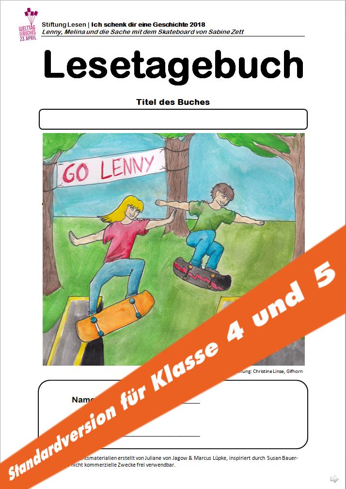 """Unterrichtsmaterial: """"Lenny, Melina und die Sache mit dem Skateboard ..."""
